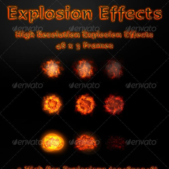 3 Animated Realistic Explosions
