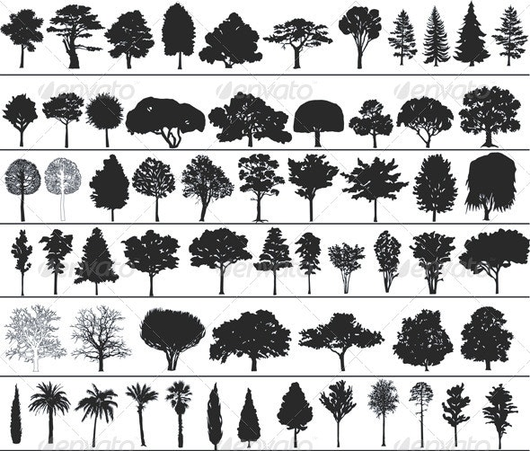 Vector Trees - Flowers & Plants Nature