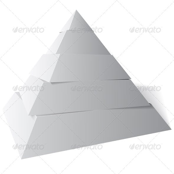 Vector Pyramid Five Levels, 3d Illustration
