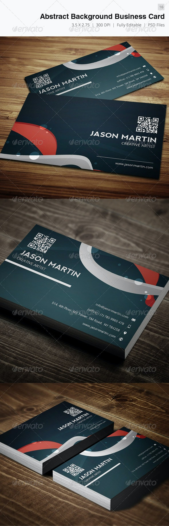 Abstract Background Creative Business Card - 16 - Creative Business Cards