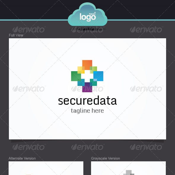 Secure Data Logo Template