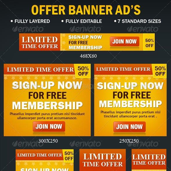Offer Banner Ads
