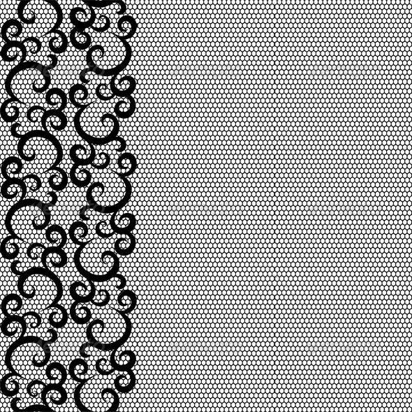 Seamless lace border and net pattern