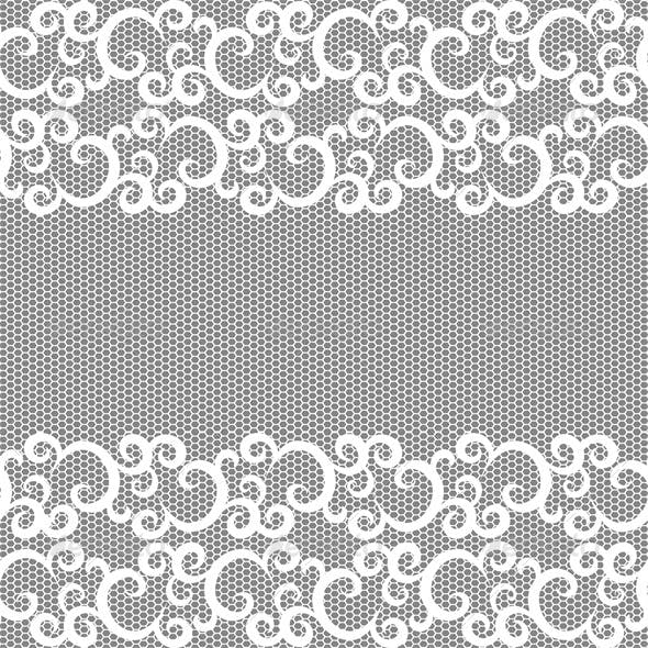 Seamless lace border and net pattern.