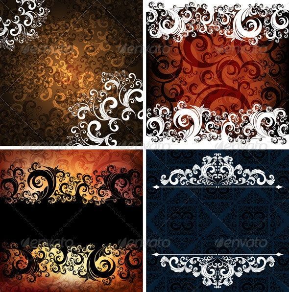 Set of Abstract Backgrounds - Backgrounds Decorative