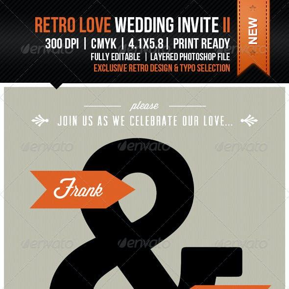Retro Love Wedding Invite II