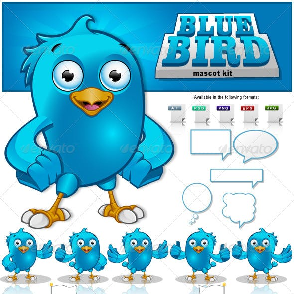 Blue Bird Mascot Kit