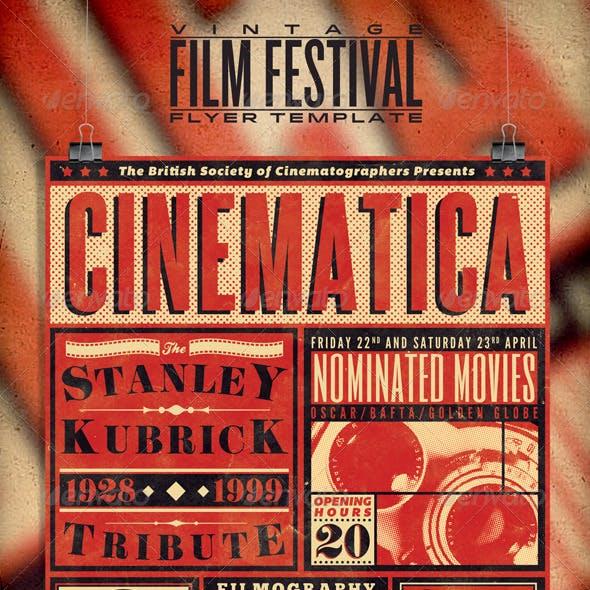 Vintage Film Festival Poster/Flyer