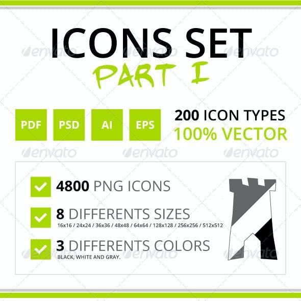 200 Rough Icons (Icons Set - Part I)