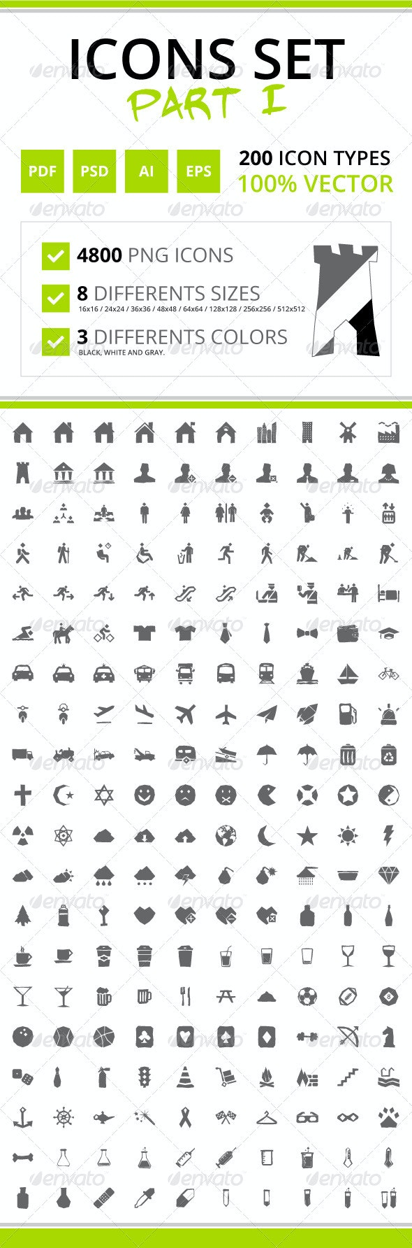 200 Rough Icons (Icons Set - Part I) - Web Icons