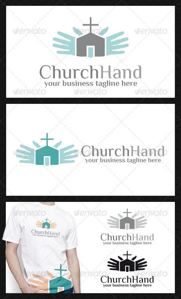 Church Hand Logo Template - Buildings Logo Templates