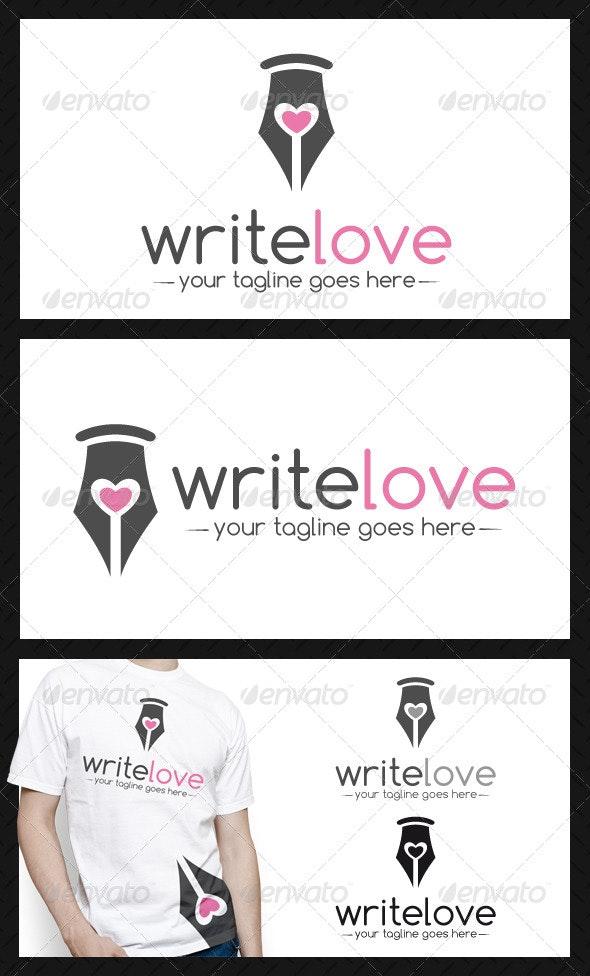 Pen Love Logo Template - Symbols Logo Templates