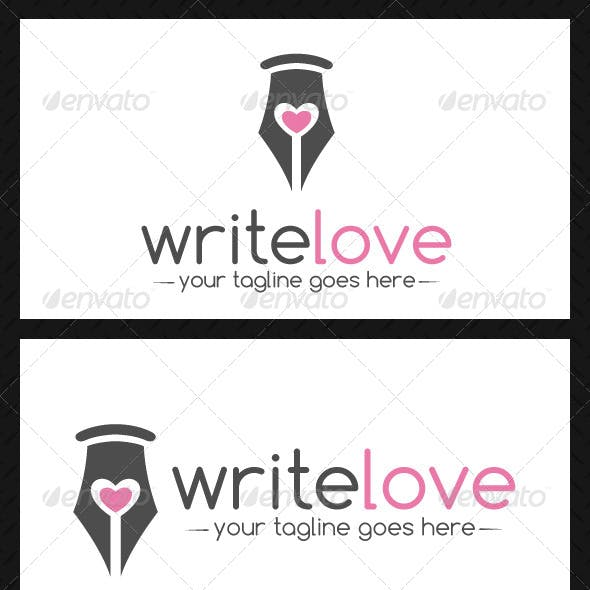 Pen Love Logo Template