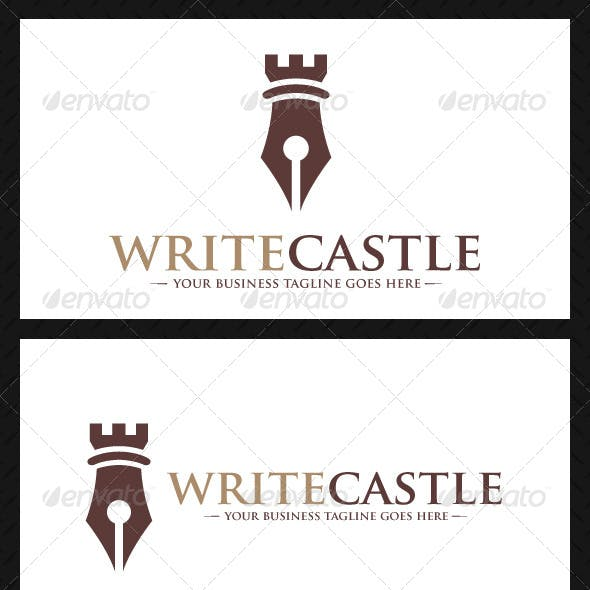 Pen Castle Logo Template