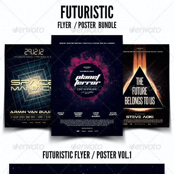 Futuristic Flyer / Poster Bundle