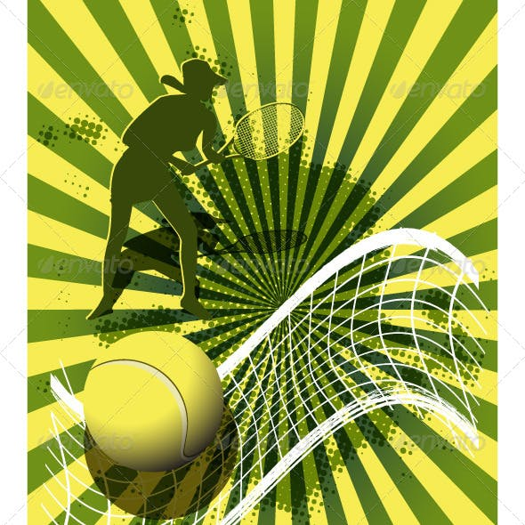 sports background tennis