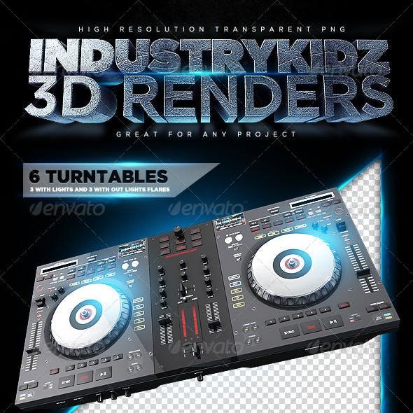 Turntable 3D Render