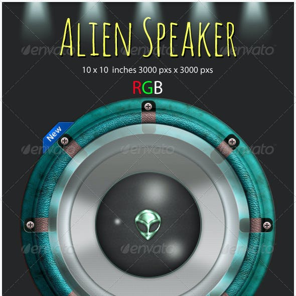 Alien Speaker Graphic