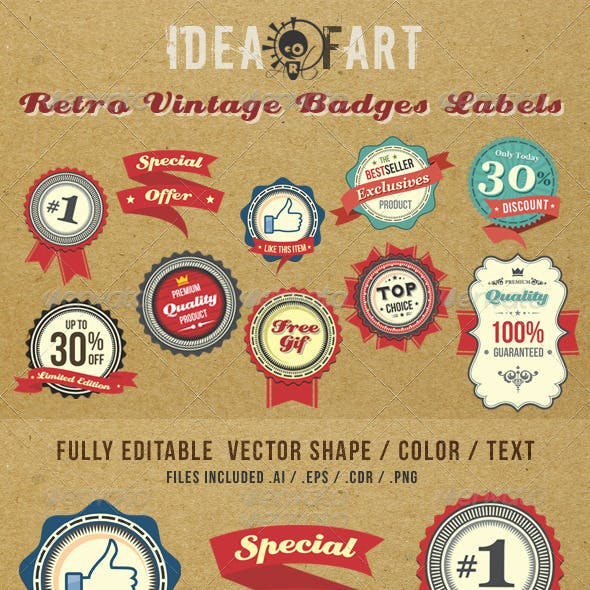 Retro Vintage Badge & Label v2