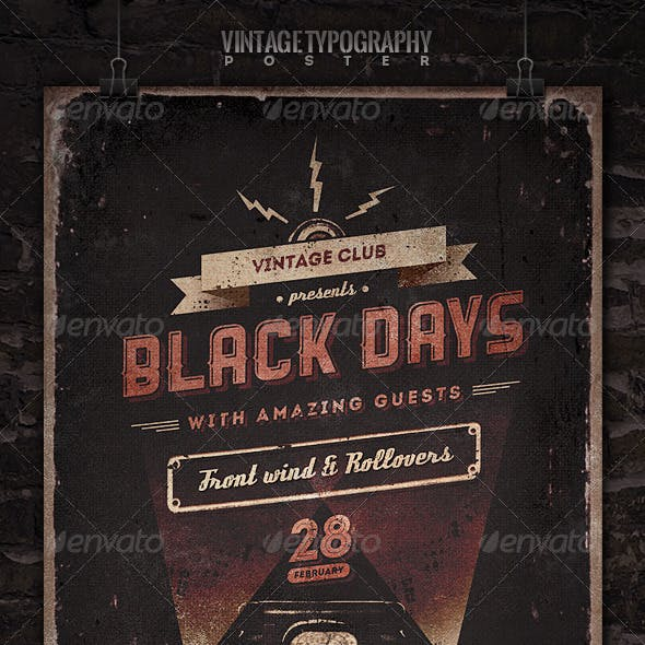 Vintage Typography Poster