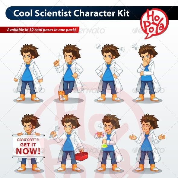 Cool Scientist Character Kit