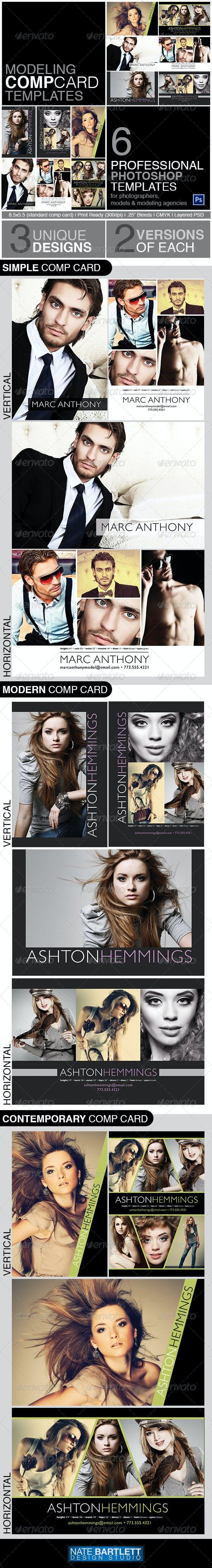 Model Comp Card Template Kit Miscellaneous Print Templates