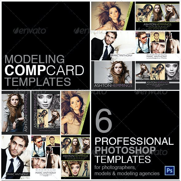 Model Comp Card Template Kit