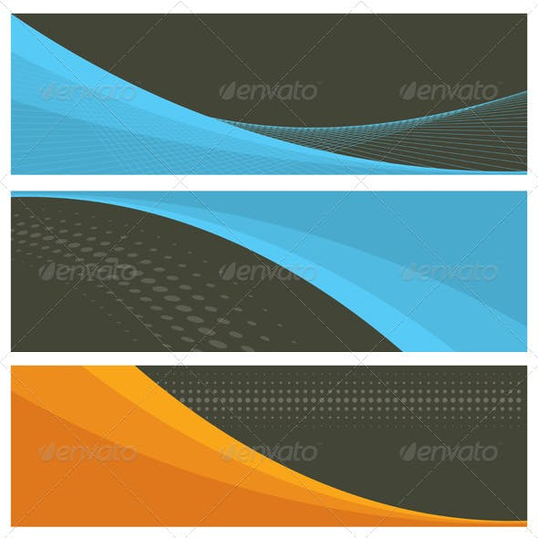 8 Colorful Vector Banners