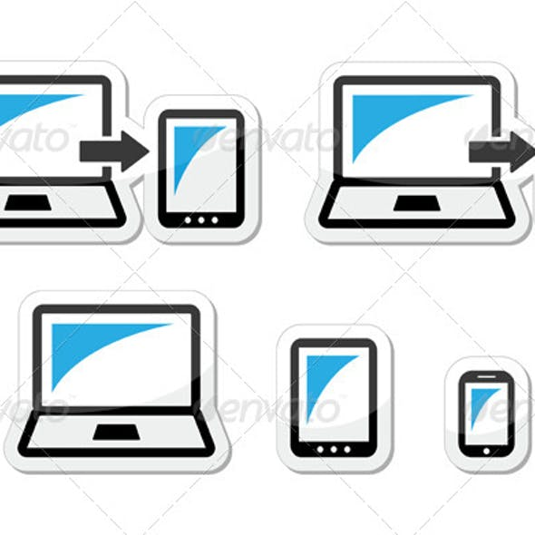 Responsive Design - Laptop, Tablet, Smartphone Icons