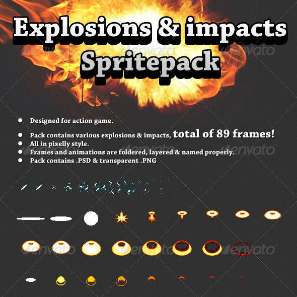 Explosions And Impacts Spritepack