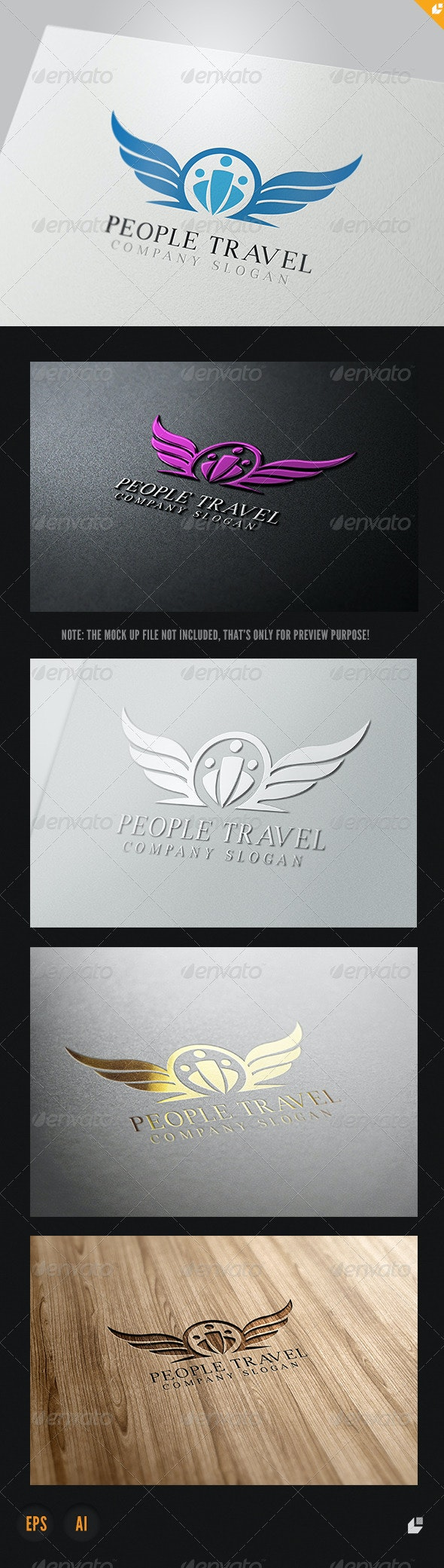 People Travel Logo - Humans Logo Templates