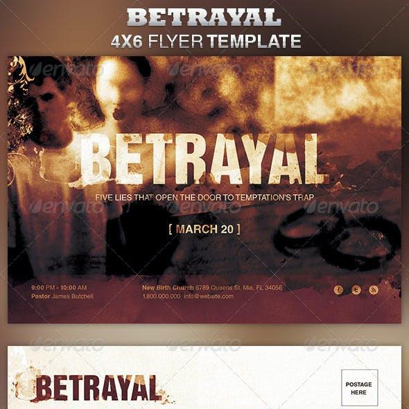 Betrayal Church Flyer Template