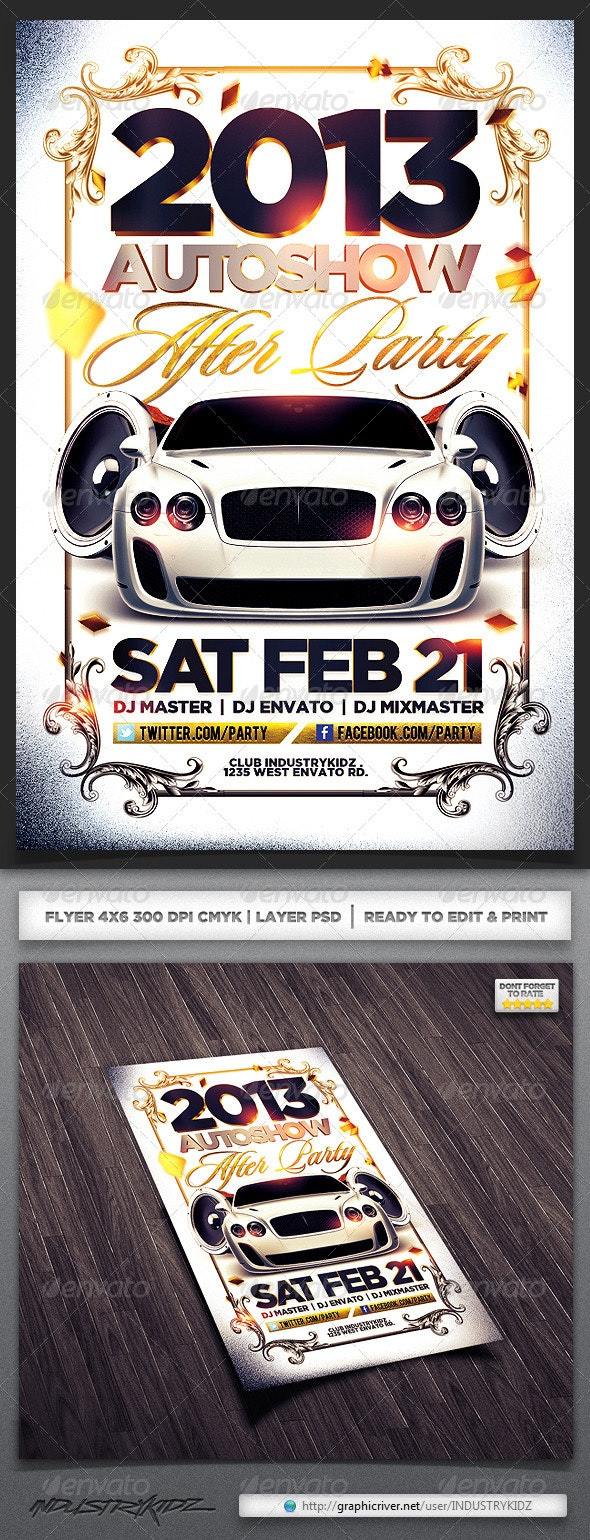 Auto show Flyer  - Clubs & Parties Events