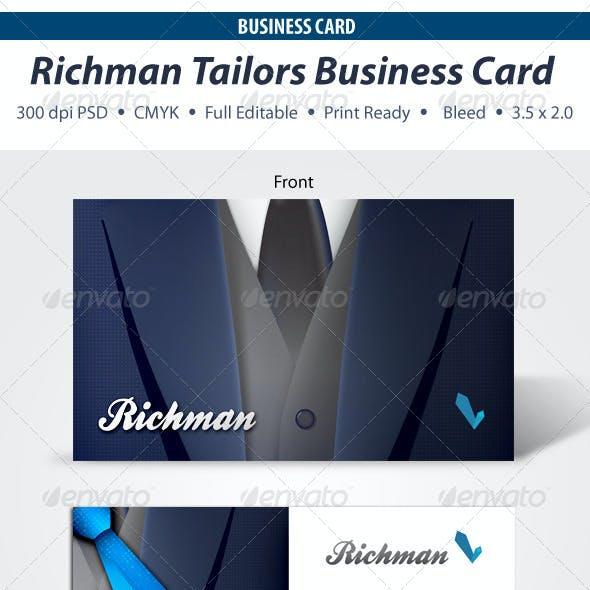 Richman Tailors Business Card