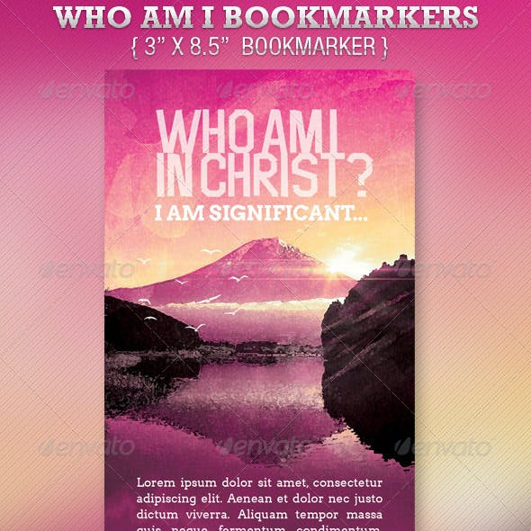 Who Am I In Christ Bookmarker Template
