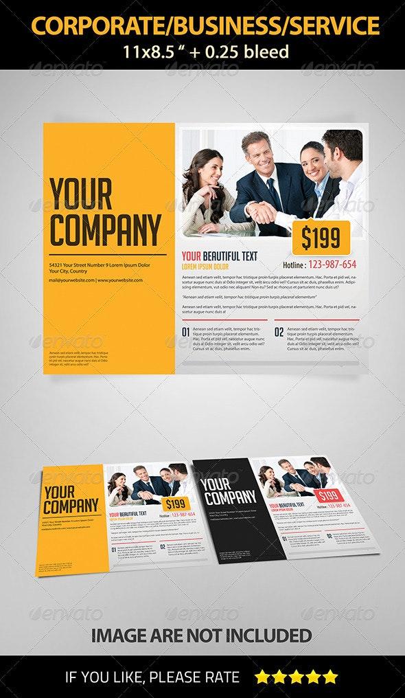 Landscape Corporate/Business/Service Flyer - Corporate Flyers