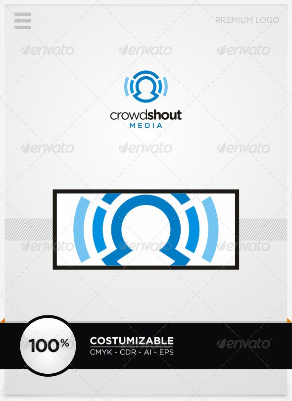Crowdshout Media Logo Template - Humans Logo Templates