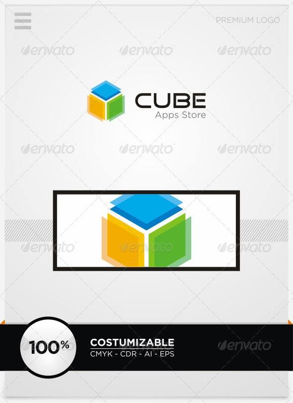 Cube Apps Store Logo Template - Vector Abstract