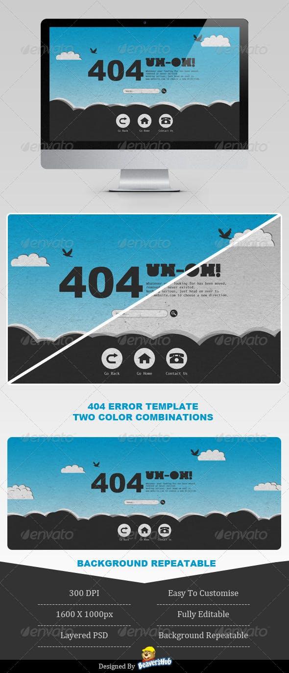 Sky High 404 Error Page