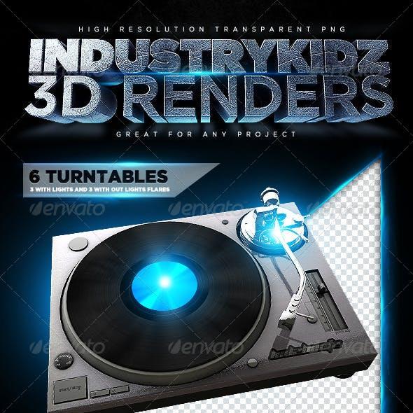Turntable 3D Renders
