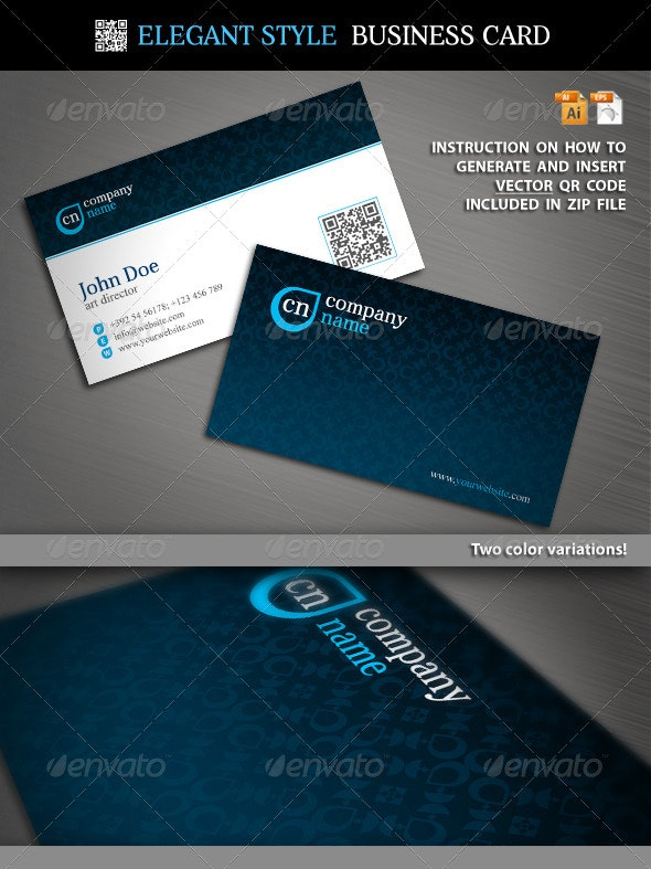 Elegant Style Business Card - Corporate Business Cards