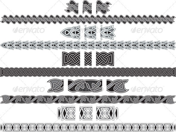 Seamless Celtic Patterns  - Borders Decorative