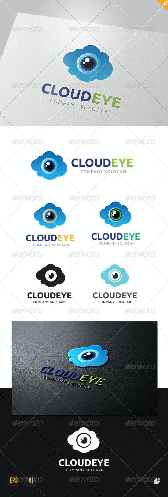 Cloud Eye Logo - Nature Logo Templates
