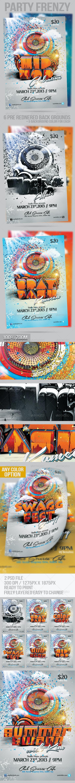 Hip Hop Party Frenzy - Flyers Print Templates