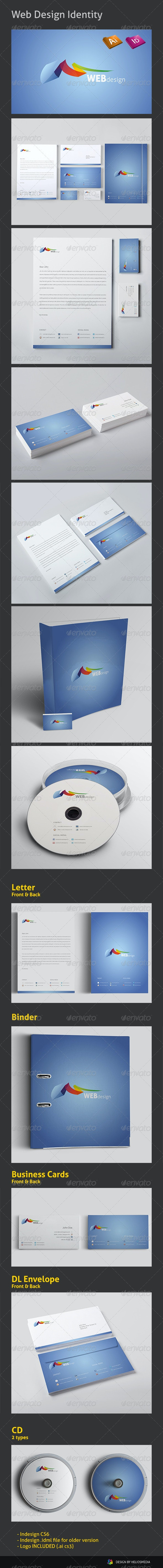 Web Design Identity - Stationery Print Templates