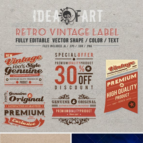 Retro Vintage Label