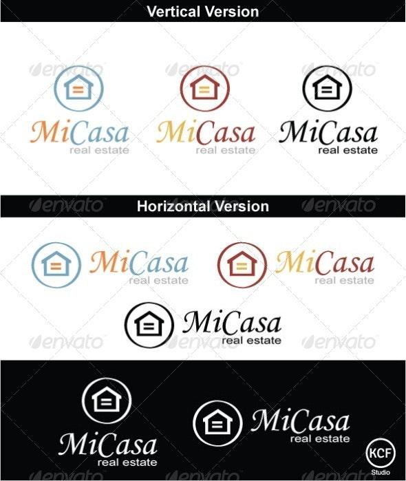 Mi Casa Logo Design - Buildings Logo Templates