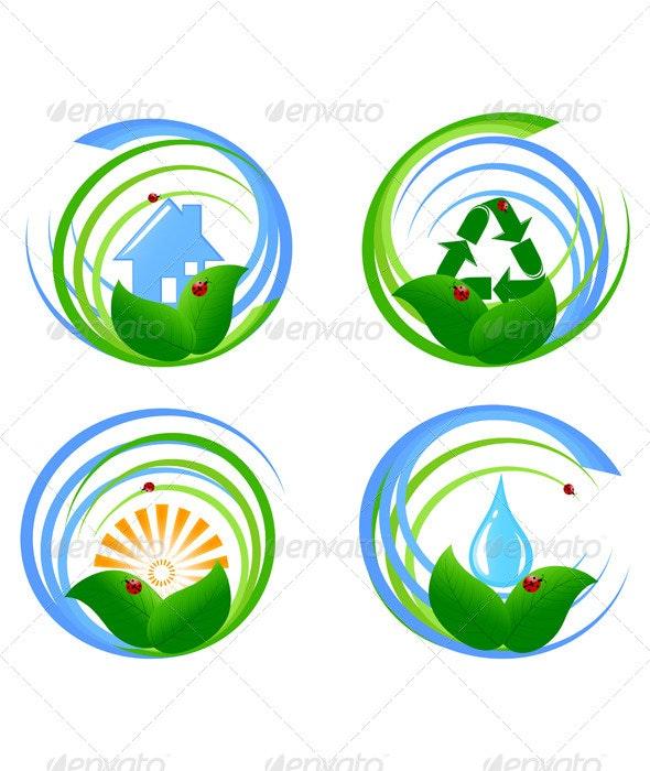 Set  of an Environmental Design Elements - Objects Vectors