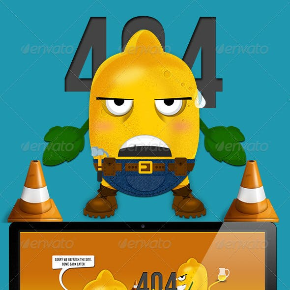 Lemon 404 Error Web Page