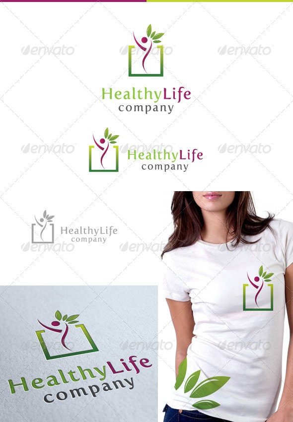 Healthy Life  - Nature Logo Templates